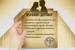 Брачный договор, заключенный до бракосочетания