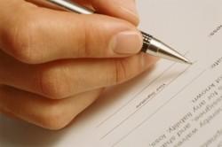 Составление заявления на развод