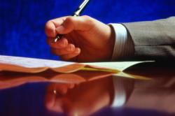 Подписание соглашения об алиментах